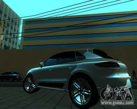 Porsche Macan Turbo for GTA San Andreas back view