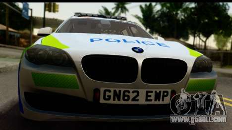 BMW 530d Kent Police RPU for GTA San Andreas back left view