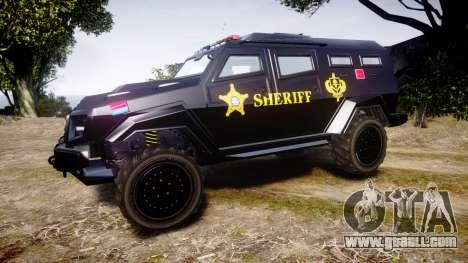 GTA V HVY Insurgent Pick-Up SWAT [ELS] for GTA 4 left view