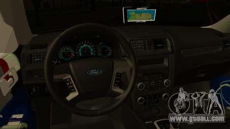 Ford Fusion 2011 Sri Lanka Police for GTA San Andreas inner view