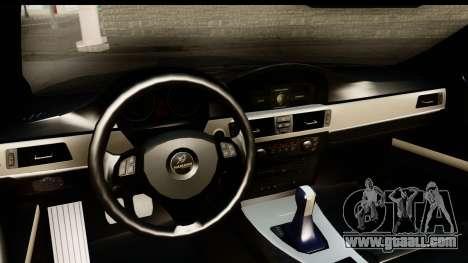 BMW M3 E90 Hamann for GTA San Andreas inner view