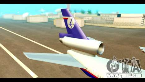 DC-10-30 PLL LOT for GTA San Andreas back left view