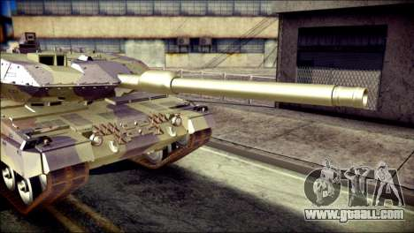 Leopard 2A6 for GTA San Andreas back view
