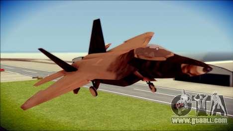 F-22 Raptor G1 Starscream for GTA San Andreas back view
