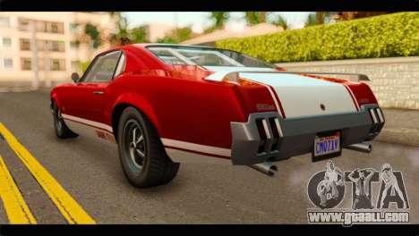 GTA 5 Declasse Sabre GT Turbo for GTA San Andreas left view