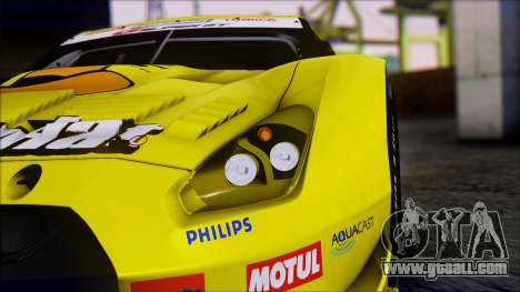 Nissan GTR R35 JGTC Yellowhat Tomica 2008 for GTA San Andreas inner view