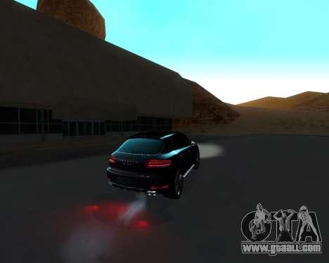 Porsche Macan Turbo for GTA San Andreas bottom view