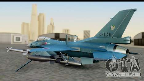 F-2A Viper Blue for GTA San Andreas back left view