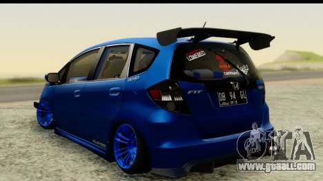 Honda Fit 2009 JDM Modification for GTA San Andreas left view