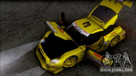 Nissan GTR R35 JGTC Yellowhat Tomica 2008 for GTA San Andreas bottom view