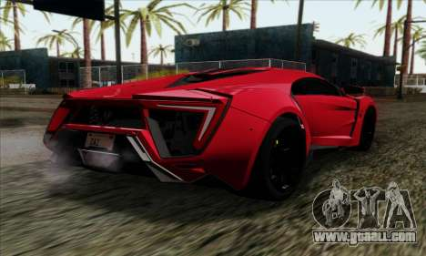 Lykan Hypersport 2014 Livery Pack 1 for GTA San Andreas left view