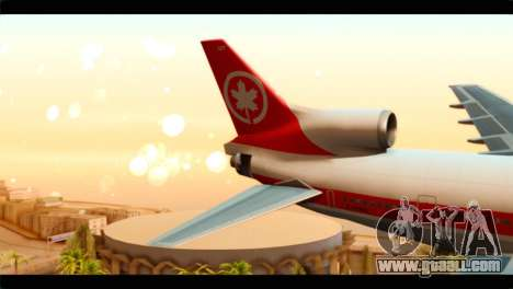Lookheed L-1011 Air Canada for GTA San Andreas back left view