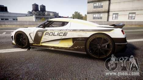 Koenigsegg Agera 2013 Police [EPM] v1.1 PJ2 for GTA 4 left view