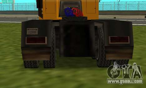 PS2 RoadTrain for GTA San Andreas back left view
