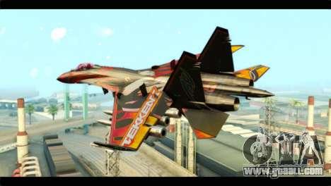SU-35 Flanker-E Tekken for GTA San Andreas left view