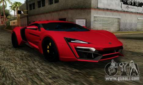 Lykan Hypersport 2014 Livery Pack 1 for GTA San Andreas
