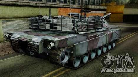 M1A2 Abrams Woodland Blue Camo for GTA San Andreas left view