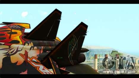SU-35 Flanker-E Tekken for GTA San Andreas back left view