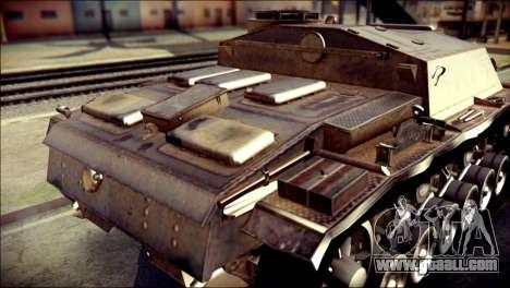 StuG III Ausf. G for GTA San Andreas back view