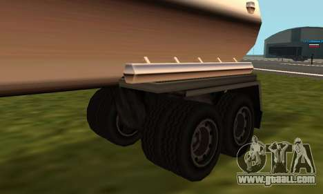 PS2 Petrol Trailer for GTA San Andreas back left view