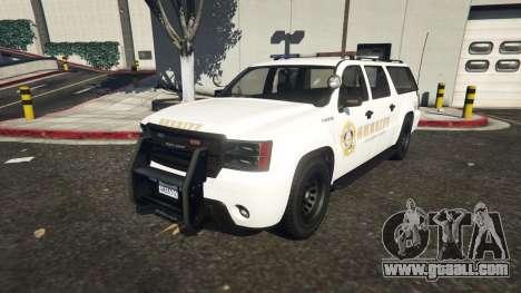 Declasse Sheriff SUV white for GTA 5