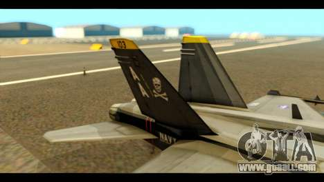 FA-18 Jolly Roger Black for GTA San Andreas back left view