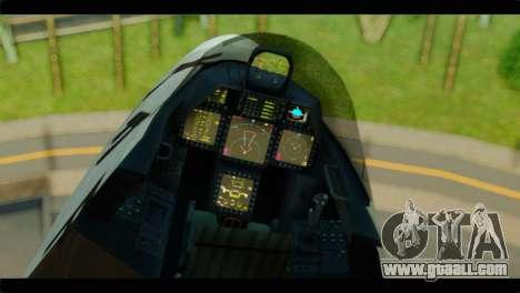 F-22 Raptor Starscream for GTA San Andreas right view