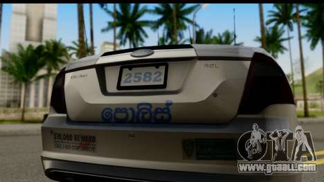 Ford Fusion 2011 Sri Lanka Police for GTA San Andreas right view