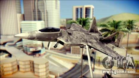 F-22 Raptor Digital Camo for GTA San Andreas
