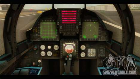 McDonnell Douglas F-15E Strike Eagle for GTA San Andreas back view