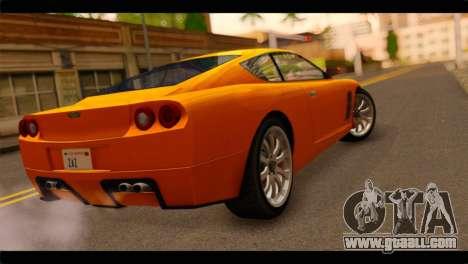 GTA 5 Dewbauchee Super GT for GTA San Andreas left view