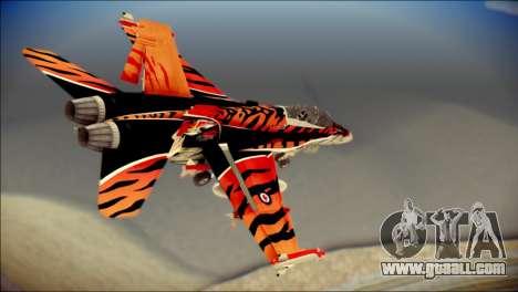 FA-18D Hornet RCAF Tigermeet for GTA San Andreas left view