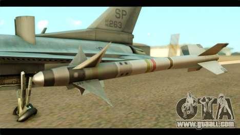 Lockheed Martin F-16C Fighting Falcon Warwolf for GTA San Andreas right view