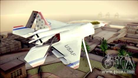 F-22 Raptor Thunderbirds for GTA San Andreas left view