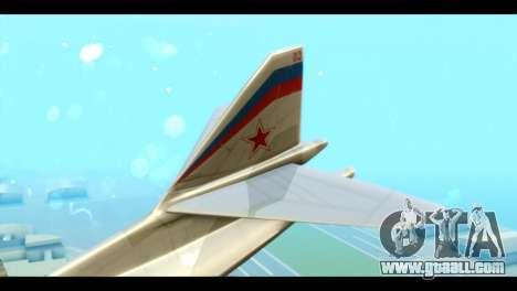 TU-160 Blackjack for GTA San Andreas back left view