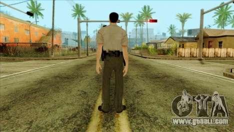 Depurty Alex Shepherd Skin for GTA San Andreas second screenshot