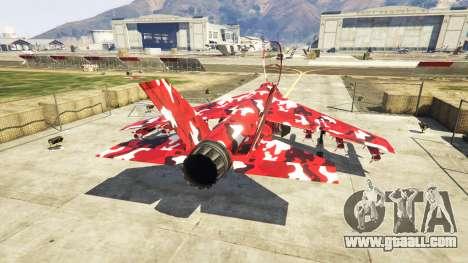 GTA 5 Hydra red camouflage third screenshot