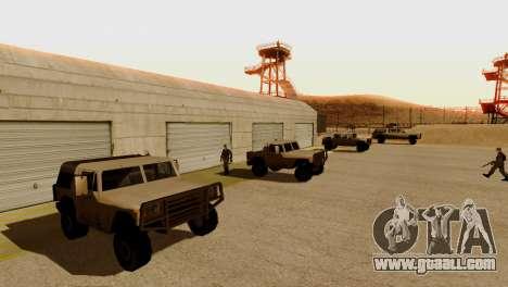 DLC 3.0 Military update for GTA San Andreas