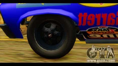 Chevy Nova NOS DRAG for GTA San Andreas back left view