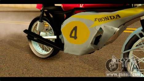 Honda RC 181 1967 for GTA San Andreas right view