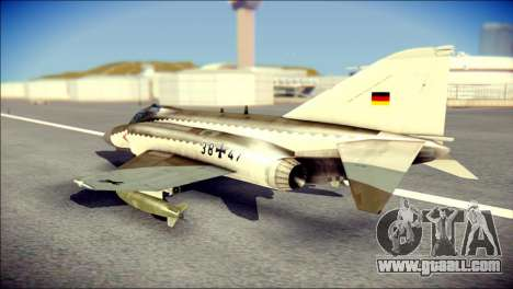 McDonnell Douglas F-4F Luftwaffe for GTA San Andreas left view