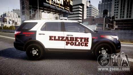 Ford Explorer 2011 Elizabeth Police [ELS] v2 for GTA 4 left view