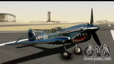 P-40E Kittyhawk US Navy for GTA San Andreas
