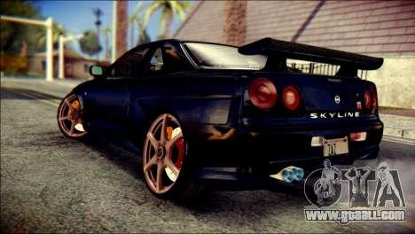 Nissan Skyline GTR V Spec II v2 for GTA San Andreas left view