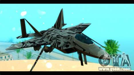 F-22 Raptor Starscream for GTA San Andreas back view
