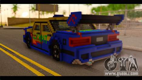 Minecraft Elegant for GTA San Andreas left view