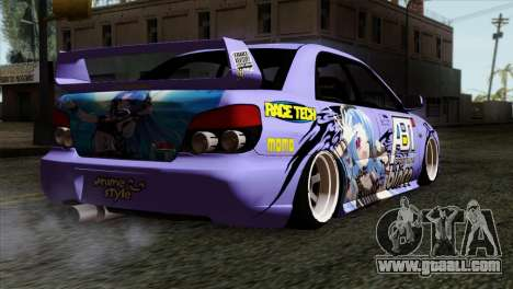 Subaru Impreza WRX STI 5pb Itasha for GTA San Andreas left view