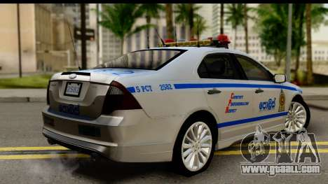 Ford Fusion 2011 Sri Lanka Police for GTA San Andreas left view