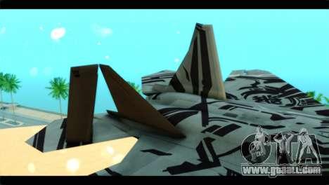 F-22 Raptor Starscream for GTA San Andreas back left view