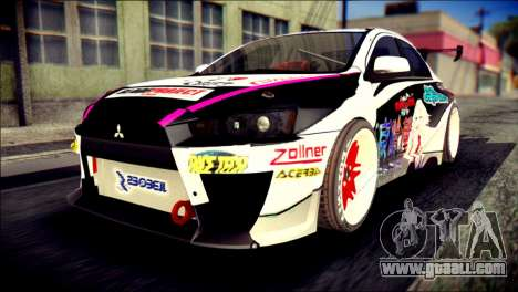 Mitsubishi Lancer Evolution X Juuzo Itasha for GTA San Andreas
